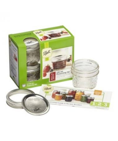 Ball Mason Jars de 4 oz (135 ML) en cajas de 4 Uds.